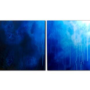 Art: BLUE TERRAIN by Artist Kate Challinor