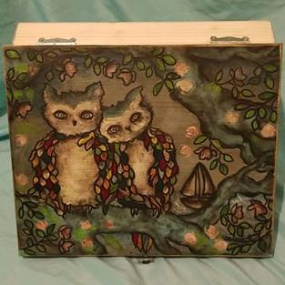 Art: Seaside- Hand Painted Essential Oil Box by Artist Chris Jeanguenat