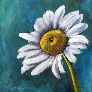 Art: Daisy by Artist Janet M Graham