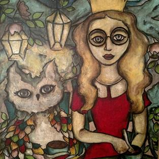 Art: Woodland Tea Party ( Princess' wear glasses too) by Artist Chris Jeanguenat