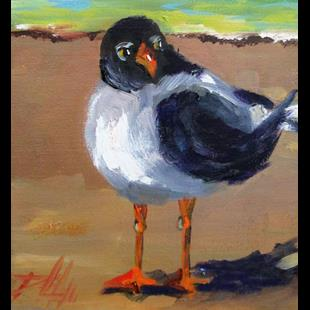 Art: Beach Gull by Artist Delilah Smith