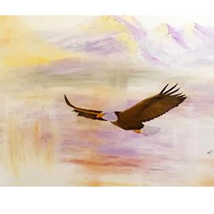 Art: where eagles fly by Artist Rossi Kelton