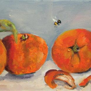 Art: Row of Oranges by Artist Delilah Smith