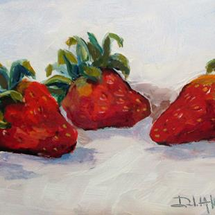 Art: Trio Of Strawberries by Artist Delilah Smith