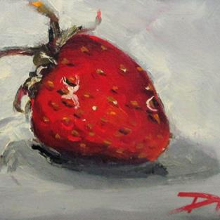 Art: Red Strawberry by Artist Delilah Smith
