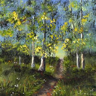 Art: Walk in the Woods by Artist Janet M Graham