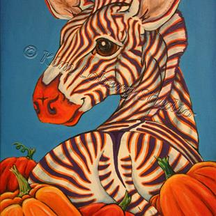 Art: Picking Out Pumpkins by Artist Kim Loberg