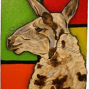 Art: A Llama Named Piet by Artist Kim Loberg