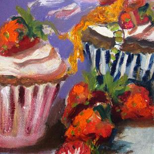 Art: Strawberry Cupcake Fairy by Artist Delilah Smith