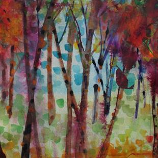 Art: Abstract Trees by Artist Delilah Smith