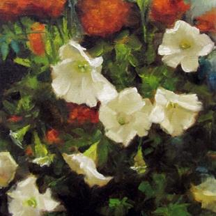 Art: Petunias and Marigolds by Artist Christine E. S. Code ~CES~