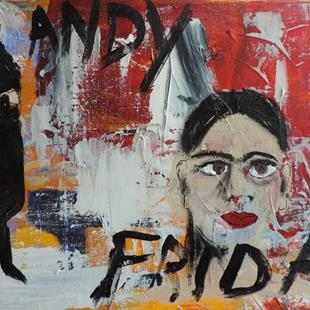 Art: andy and frida by Artist Nancy Denommee