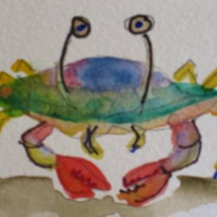 Art: Beach Crab by Artist Delilah Smith