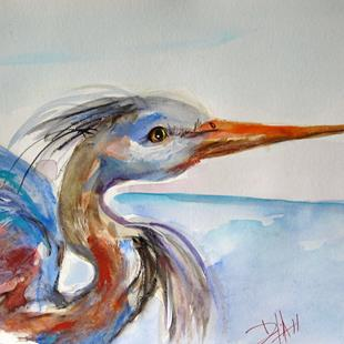 Art: Great Blue Heron by Artist Delilah Smith