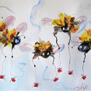 Art: Long Legged Bees by Artist Delilah Smith