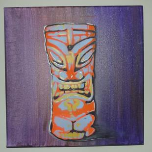 Art: Original Graffiti Tiki Cup #1 by Artist Paul Lake, Lucky Studios