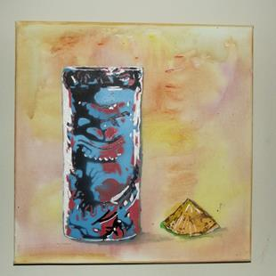 Art: Original Graffiti Tiki Cup #5 by Artist Paul Lake, Lucky Studios