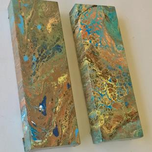 Art: Set of 2 Fluid Acrylic Paintings - sold by Artist Ulrike 'Ricky' Martin