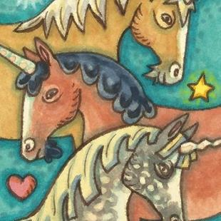 Art: UNICORN ROUNDUP 2 by Artist Susan Brack