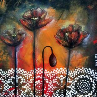 Art: Poppies by Artist Vicky Helms