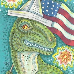 Art: ALL AMERICAN DINO by Artist Susan Brack