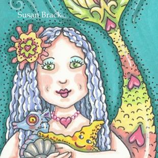 Art: BIRTHDAY MERMAID by Artist Susan Brack