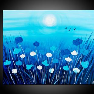 Art: BLUE POPPIES by Artist Kate Challinor