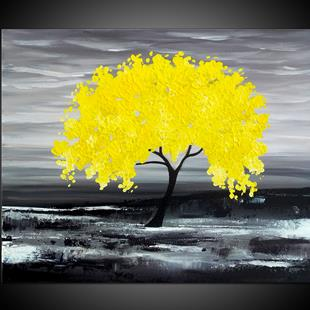 Art: MY YELLOW TREE by Artist Kate Challinor