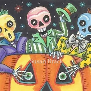 Art: SPOOKY BOO BROTHERS by Artist Susan Brack
