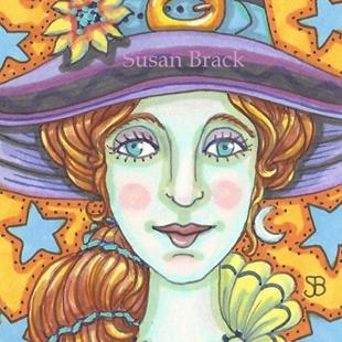 Art: EYES OF STAR BLUE by Artist Susan Brack