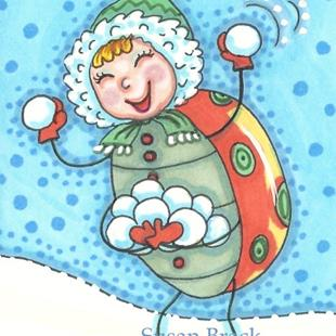 Art: HAPPY SNOWBALLS by Artist Susan Brack