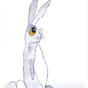 Art: LITTLE HARE h2599 by Artist Dawn Barker