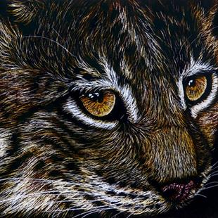 Art: Baby Lynx  (SOLD) by Artist Monique Morin Matson