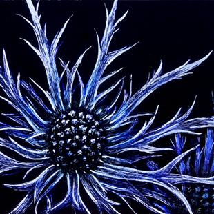 Art: Sea Holly  (SOLD) by Artist Monique Morin Matson
