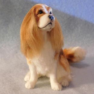 Art: Silk Furred Cavalier King Charles by Artist Camille Meeker Turner