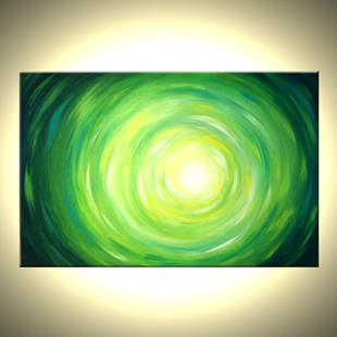Art: Ripples Of Green by Artist Daniel J Lafferty