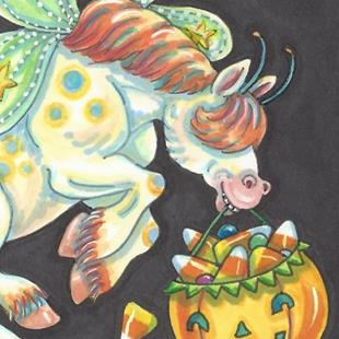 Art: WHIMSYNICKER CANDY CORN TREATS by Artist Susan Brack
