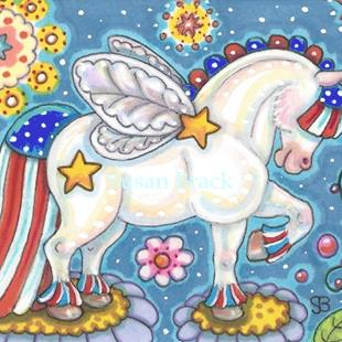 Art: WHIMSYNICKER YANKEE DOODLE PONY by Artist Susan Brack