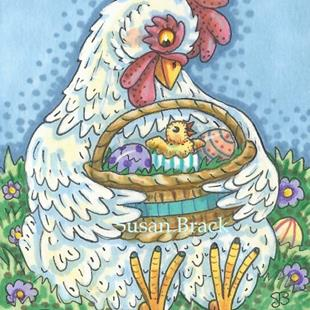 Art: EASTER CHICK by Artist Susan Brack