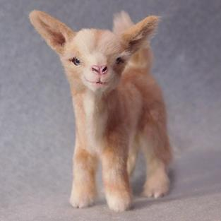 Art: Silk Furred Kid Goat by Artist Camille Meeker Turner
