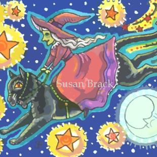 Art: BLACK CAT QUEST by Artist Susan Brack