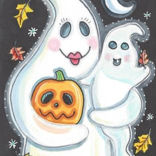 Art: HALLOWEEN SPIRITS by Artist Susan Brack