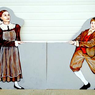 Art: Maid and Footman, from the Nutcracker Ballet by Artist Patience