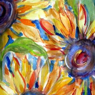 Art: Sunflower Madness by Artist Delilah Smith