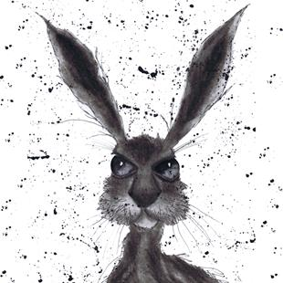 Art: DARK HARE h2179 by Artist Dawn Barker