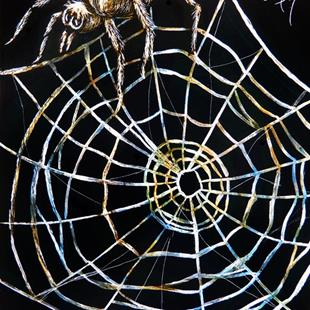 Art: Spider & Web  (SOLD) by Artist Monique Morin Matson