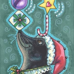 Art: A MERRY CHRISTMAS SEAL by Artist Susan Brack
