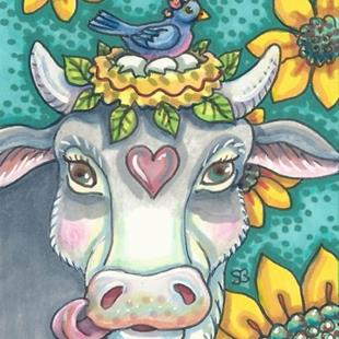 Art: COW PASTURE PARADISE by Artist Susan Brack
