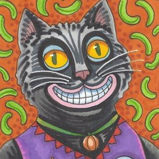 Art: BLACK JACK CAT by Artist Susan Brack