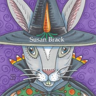 Art: HALLOWEEN HARE by Artist Susan Brack